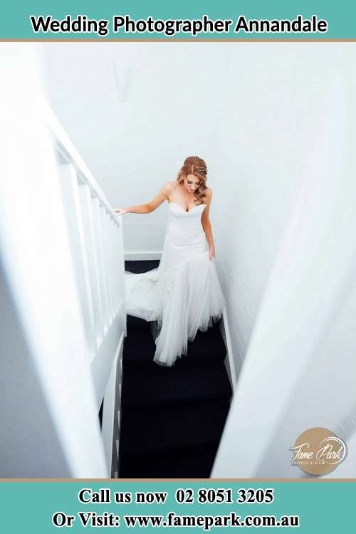 Photo of the Bride going down the stair Annandale NSW 2038