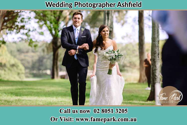 Photo of the Groom and the Bride walking Ashfield NSW 2131