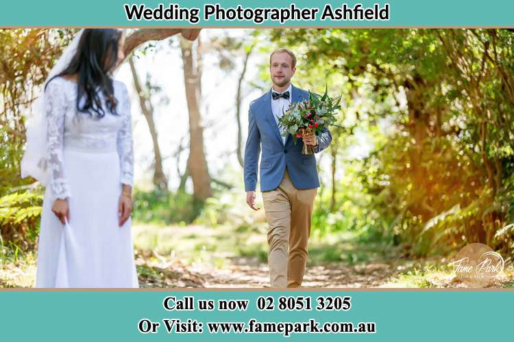 Photo of the Groom bringing flower to the Bride Ashfield NSW 2131