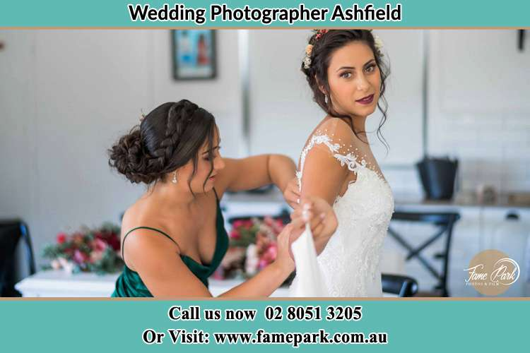 Photo of the Bride and the bridesmaid getting ready Ashfield NSW 2131
