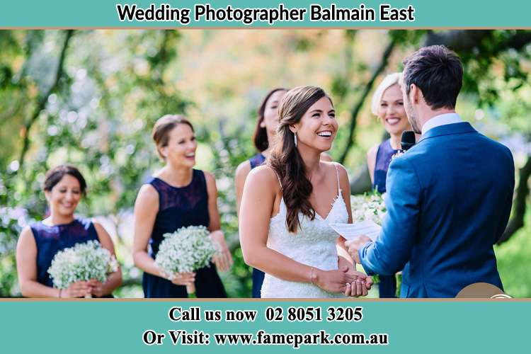 Photo of the Groom testifying love to the Bride Balmain East NSW 2041