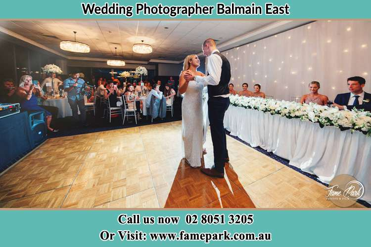 Photo of the Bride and the Groom dancing Balmain East NSW 2041
