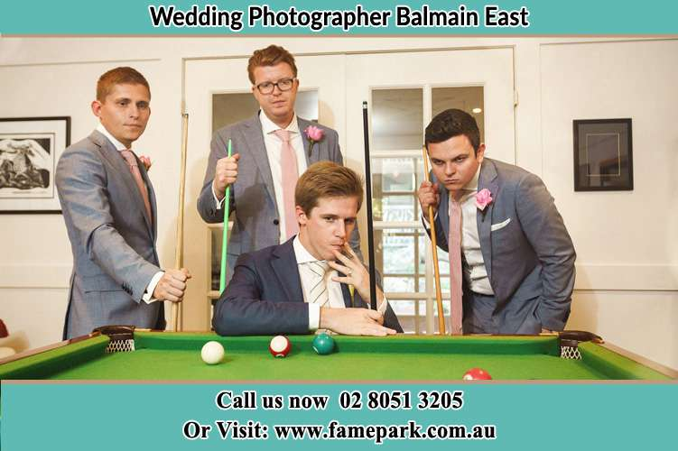 Photo of the Groom and the groomsmen Balmain East NSW 2041