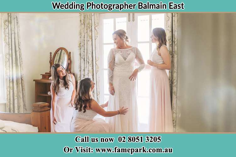Photo of the Bride and the secondary sponsor preparing Balmain East NSW 2041