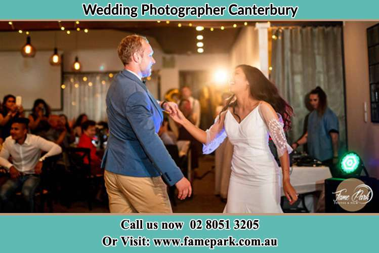 Photo of the Groom and the Bride dancing Canterbury NSW 2193