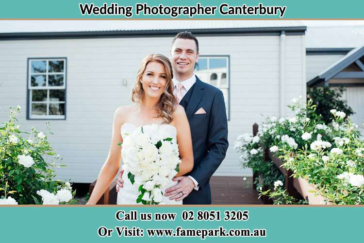Photo of the Bride and the Groom at the front house Canterbury NSW 2193
