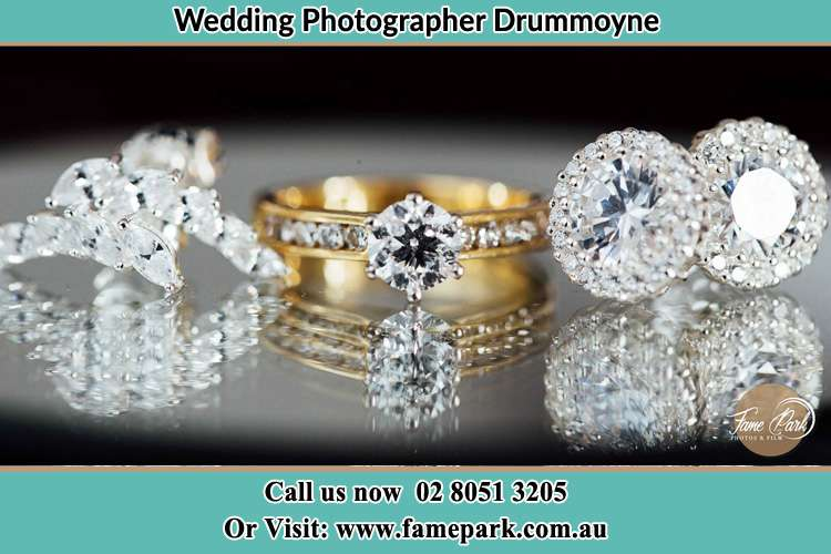 Photo of the Bride's cliff, ring and earrings Drummoyne NSW 2047