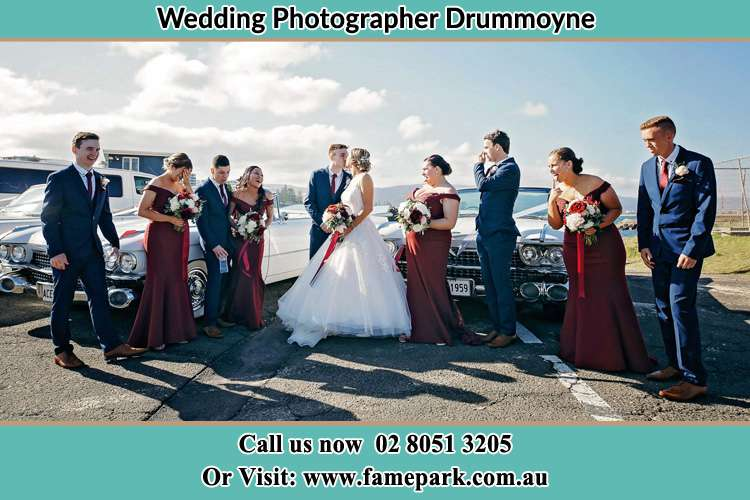 Photo of the Groom and the Bride with the entourage Drummoyne NSW 2047