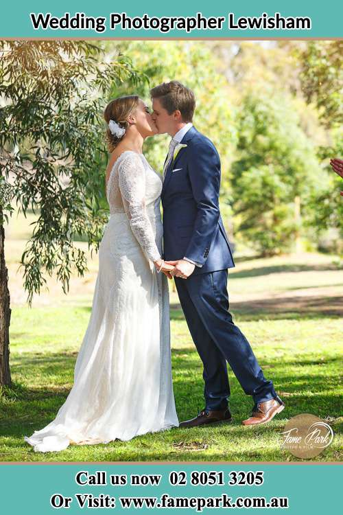 Photo of the Bride and the Groom kissing at the garden Lewisham NSW 2049