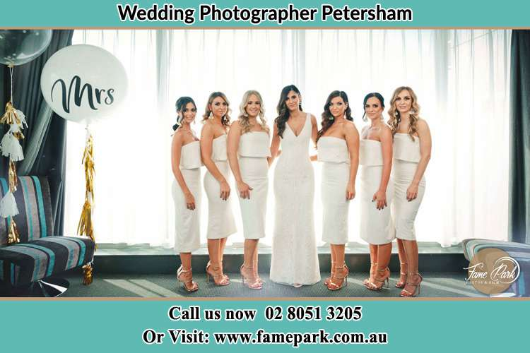 Photo of the Bride and the bridesmaids Petersham NSW 2049