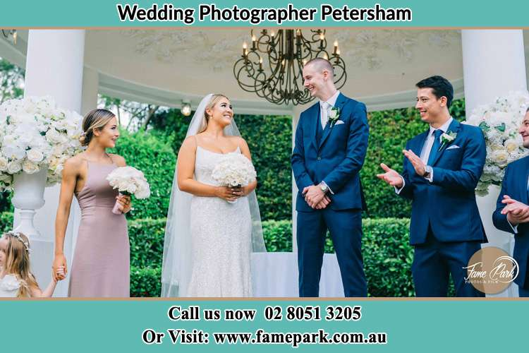Photo of the Groom and the Bride with the entourage Petersham NSW 2049