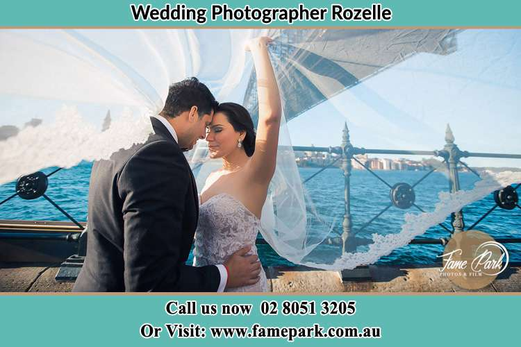 Photo of the Groom and the Bride kissing Rozelle NSW 2039