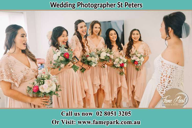 Photo of the Bride and the bridesmaids St Peters NSW 2044